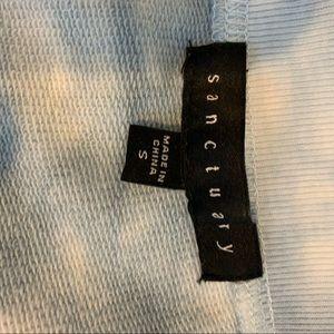 Sanctuary Tops - Sanctuary Blue & white tye dye cropped sweatshirt